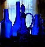 Image detail for -1930 COBALT BLUE DEPRESSION GLASS TILT JUG PITCHER + TUMBLER GLASSES