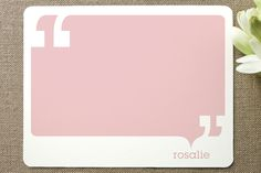 Quotes Children's Personalized Stationery by Evely... | Minted