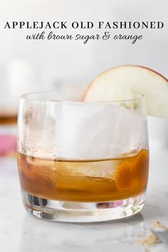 This applejack old fashioned is filled with the sweet notes of ripe apples, brown sugar and a zesty spritz of orange. You'll love the sweet fruit notes and the lighter body from apple brandy. Brandy Cocktails, Fun Cocktails, Cocktail Drinks, Apple Brandy, Brandy Old Fashioned, Old Fashioned Recipes, Winter Cocktails, Health And Fitness