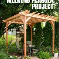 Weekend DIY Pergola Project #DigIn