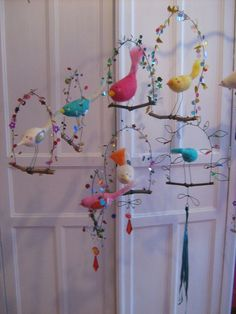 non lus) - lacoukauque - Yahoo Mail Bird Crafts, Cute Crafts, Felt Crafts, Diy Crafts For Kids, Arts And Crafts, Paper Crafts, Magic Crafts, Crafty Craft, Beads And Wire