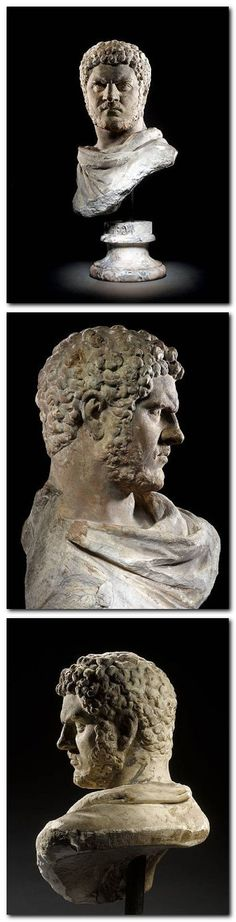 Caracalla (A.D. 212-217) executed his brother (and co-emperor) Geta, and massacred thousands of his brother's supporters; as well as his own wife and his brother-in-law (amongst other family members) in an effort to take sole control of the Empire.  'Caracalla' was born Lucius Septimius Bassianus, and as Roman emperor he became Imperator Caesar Marcus Aurelius Antoninus Augustus. The nickname, 'Caracalla' is thought to derive from the Gallic hooded cloak that he made popular.