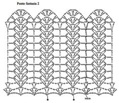 Diy Crafts - Crochet ideas that love Filet Crochet, Crochet Borders, Crochet Diagram, Crochet Stitches Patterns, Crochet Chart, Knitting Patterns, Knit Crochet, Hand Knitting, Tunisian Crochet