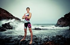 Pro triathlete Katya Meyers looking fierce in her Signature Tri kit. Photo by James Mitchell.