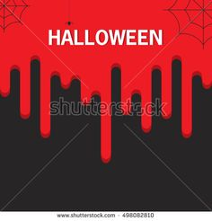 Halloween. A vector flat style with the text and the flowing-down blood. The leaflet, a banner, a poster, for the holiday Halloween.