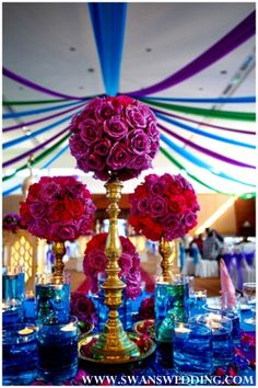 peacock themed wedding reception ideas | Indian Wedding Lunch Reception With Peacock Theme by Swans Wedding in ...