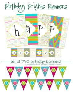 SO pretty!    Peonies and Poppyseeds: Birthday Brights Printable  http://www.peoniesandpoppyseeds.com/2011/10/birthday-brights-printable.html#