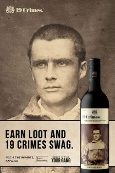 Trick or treason? Buy a bottle of 19 Crimes and Living Wine Labels to get the perfect Halloween treat. 19 Crimes Wine, Famous Wines, Alcohol Bottles, Port Wine, Alcohol Recipes, Wine List, Home Brewing, Mixed Drinks, Wine Tasting