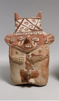 Male Figure  Date:     12th–14th century Geography:     Peru Culture:     Chancay Medium:     Ceramic Dimensions:     H.. 7 in. (18 cm) Classification:     Ceramics-Sculpture