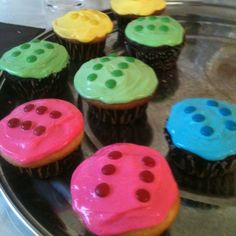 Lego cupcakes - mini m m s could use fruit roll ups to make strip to mount the mms