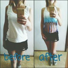 Diy old tank top <3