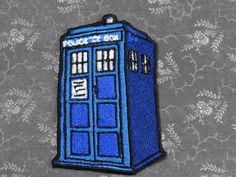 Something blue? / Doctor Who Tardis inspired Sew on Patch by LaMuerteDulce on Etsy, $6.00