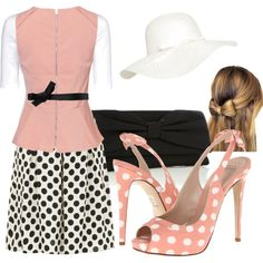 Dots and Bows, created by withlove-sara on Polyvore