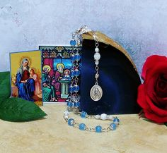Unbreakable Relic Rosary of St. Anne - Patron Saint of Mothers, Expectant Mothers, Women in Labour, Grandparents, and Against Poverty by foodforthesoul on Etsy