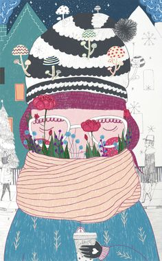 Snow, Flowers and Coffee by Gizem Vural, via Behance