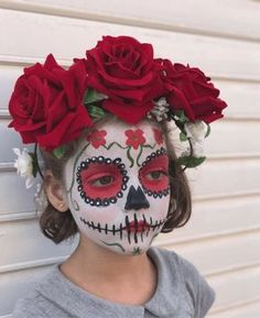 67 Ideas for makeup halloween catrina 67 Ideen für Make-up Halloween Catrina Halloween Makeup For Kids, Kids Makeup, Halloween Makeup Looks, Halloween Kostüm, Halloween Costumes, Catrina Costume, Brown Matte Lipstick, Dead Makeup, Sugar Skull Makeup
