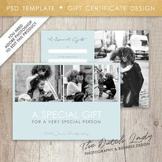 Photography gift certificate template design 8 instant download photography gift certificate template design 16 instant download layered d file yelopaper Images