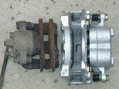Compare original XJ to new WJ brake calipers.
