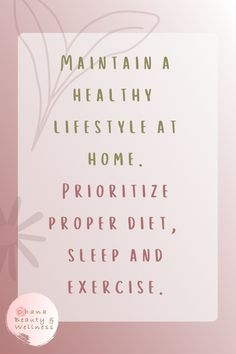 Maintain a balanced and healthy lifestyle if you are staying at home for extended periods of time. Stress Less, Proper Diet, Ohana, Take Care Of Yourself, Eating Well, Healthy Lifestyle, Wellness, Exercise, City