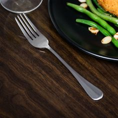 Queen Anne Flatware Stainless Steel Four-Tine Dinner Fork - 12/Pack