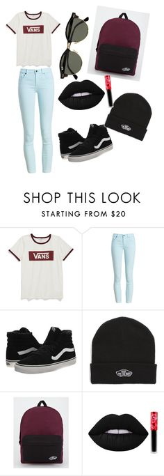 """Vans are life💋👌🏾😎"" by bb-cashout ❤ liked on Polyvore featuring Vans, Barbour, Lime Crime, Ray-Ban and BackToSchool"