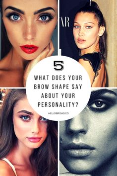 What do your brows say about your personality? Tanya Burr, Brow Shaping, Free Books, Kendall Jenner, Natural Skin Care, Eyebrows, Your Hair, Personality, Sayings