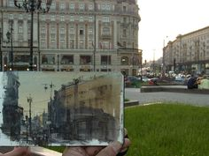Paint on site in Moscow by Chien Chung Wei (紅場第二張)