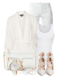 """""""white"""" by cly88 ❤ liked on Polyvore featuring moda, Dsquared2, Topshop, American Vintage, Rebecca Minkoff, Vanessa Mooney, Gianvito Rossi, Bulova, women's clothing y women"""