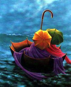 Días de lluvia y hojas: Lluvía de color