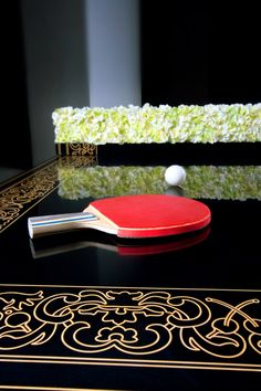 Ping Pong Dining Table-not my style but love the concept---