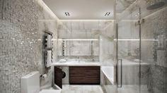 satinieres und geätztes glas schiebetür Vitrealspecchi   Bathroom ...