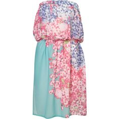 Floral Cover Up ($30) ❤ liked on Polyvore featuring swimwear, cover-ups, dresses, topshop, floral, beach cover up, cover up swimwear, swim cover up and floral swimwear
