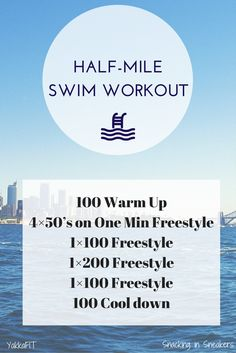 This half mile swim workout is a great pool workout for anyone training for upcoming triathlon races! | Triathlon Training | Triathlon Swim Training | Swim Workout