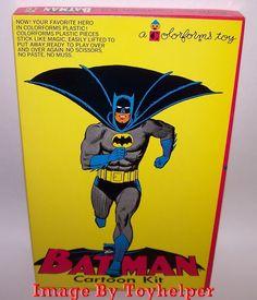 Batman Cartoon Kit Colorforms Toy Play Set 401 Unused Very Rare High Grade 1966 #Colorforms