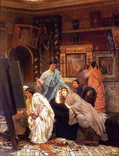 Artist: Sir Lawrence Alma-Tadema Oil Painting Reproductions, Hand-Painted On Canvas Lawrence Alma Tadema, Classical Antiquity, Classical Art, Architecture Antique, Rome Antique, Dutch Painters, Dutch Artists, Art Database, Oil Painting Reproductions