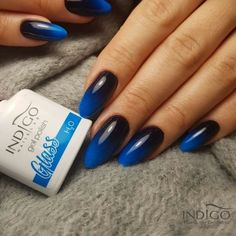 Harry Potter Nails, Indigo Nails, Glass Collection, Gorgeous Nails, You Nailed It, Manicure, Hair Beauty, Polish, Nail Art