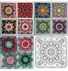 Transcendent Crochet a Solid Granny Square Ideas. Inconceivable Crochet a Solid Granny Square Ideas. Crochet Motifs, Granny Square Crochet Pattern, Crochet Diagram, Crochet Chart, Crochet Granny, Crochet Stitches, Crochet Flower, Crochet Squares, Crochet Blocks