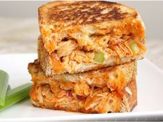 Buffalo Chicken Grilled Cheese - looks amazing!
