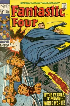 Fantastic Four (1961 1st Series) 95 Marvel Comics Modern Age Comic book covers Super Heroes Villians Sue Storm Reed Richards The Thing Human Torch Fantastic Four