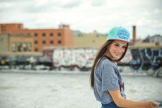 AMERICAN VARSITY Mint Snapback Hat brooklyn, new york