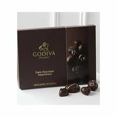 Got this for my birthday once....I can honestly say it Is the most amazing chocolate EVER!!(Godiva Dark Chocolate Assortment)