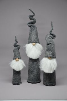 Medium, Large and XL Rocket Gnome Trio   GnomeFactory