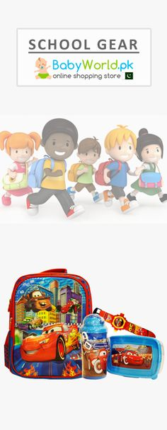 Now you can buy school stuff for your kids online across Pakistan on Babyworld at affordable prices from popular brands like Disney characters school bags, water bottles, lunch boxes, Winfun books and many more stuff.  Order Online > http://babyworld.pk/24-school-gear