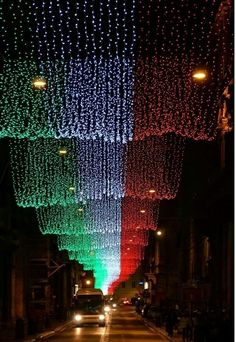 Under the flag, Christmas in Rome.