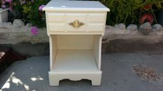 Beautiful solid maple nightstand  side by Youniqueattictreasur,