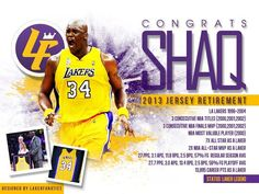 Shaquille O'Neal is now a Laker legend