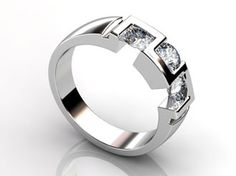 Contemporary 3-Stone Ring  ...gorgeous!!!
