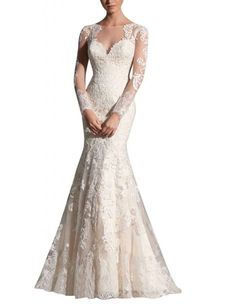 MILANO BRIDE Grace Wedding Dress. Long sleeve floral dress. 2016 gorgeous. $210 USD