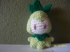 COMPLETED: 55 GOAL: 649   Materials:  crochet hook, light green, green and white yarn, brown and white felt    Head: With white, 6 sc in ma...