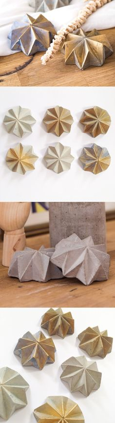 Concrete + Origami = TWO BOLD Home Accessory ☺️ Get it at out Etsy Shop